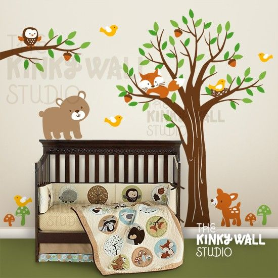 Children Wall Decal Wall Sticker tree decal  Full by KinkyWall, $135.00  Perfect for my boy and girl baby room