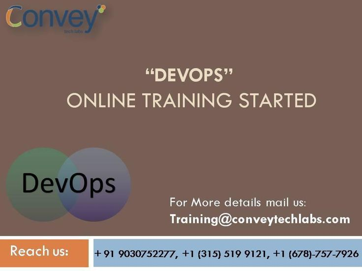 Convey Tech Labs is the pioneer in providing online training in the field of Information Technology. We are delighted to be one of the leading IT online training providers on various technologies.