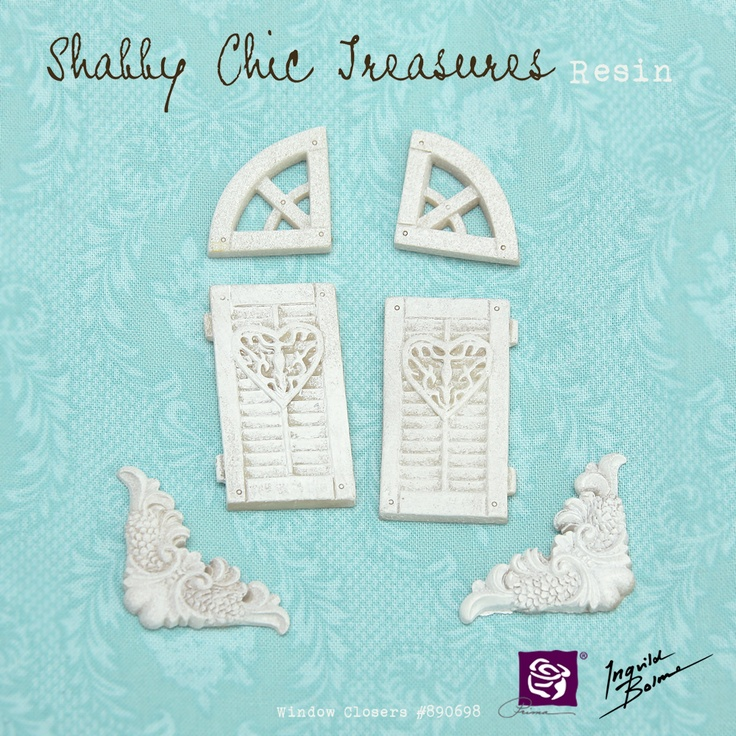 Shabby Chic Resin Treasures - Window Closers