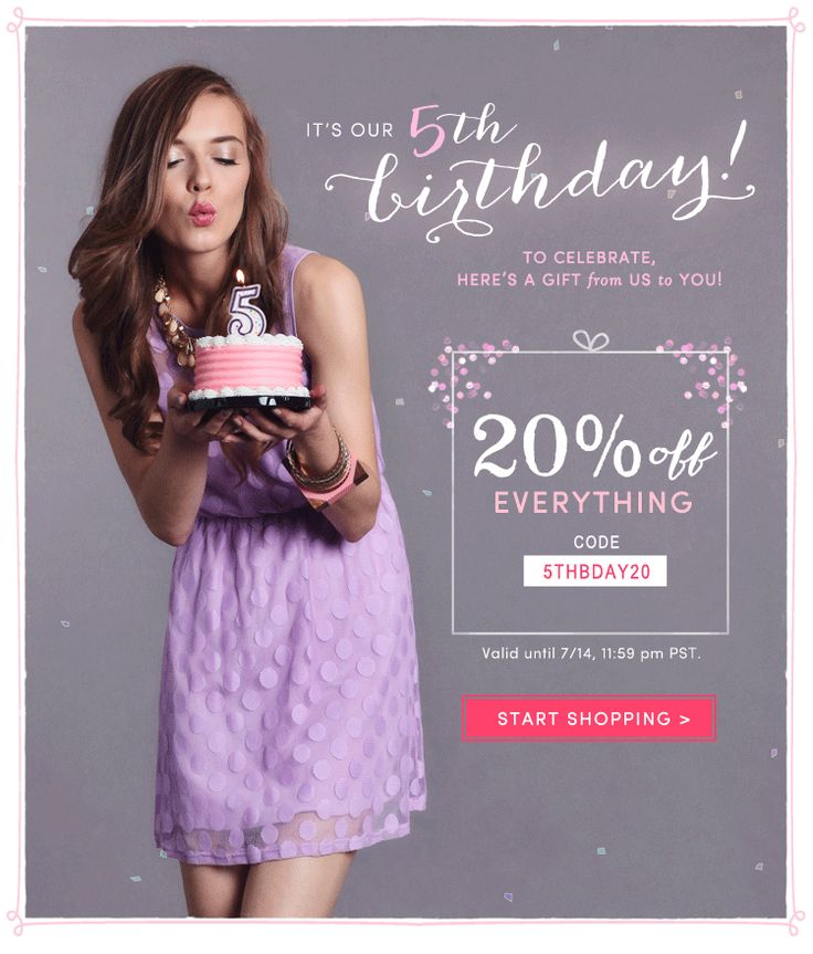 55 Best Birthday Emails Images On Pinterest | Birthday Email