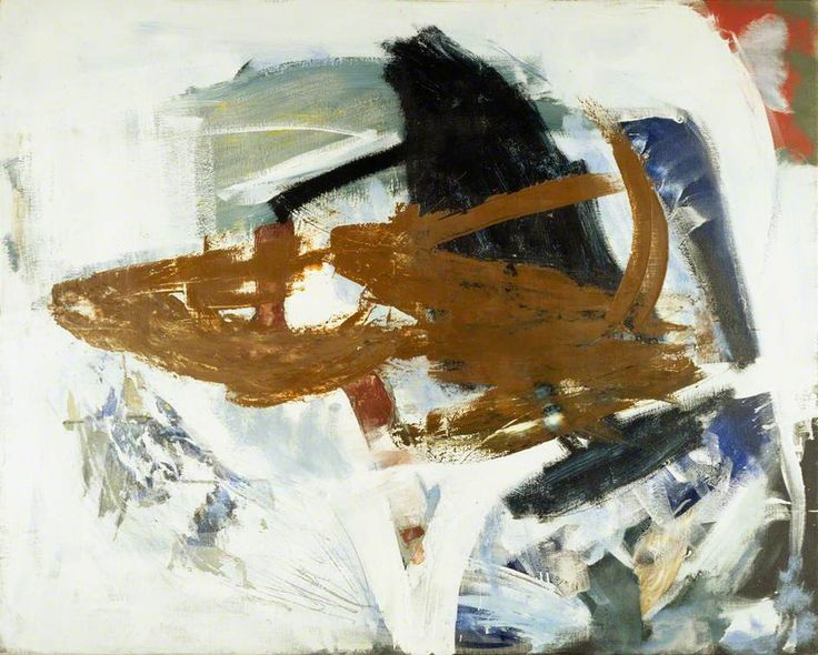 Backing Wind, November 1961 by Peter Lanyon, British Council. A backing wind blows in one direction at ground level and in a counter-clockwise direction higher up. Such a wind is associated with cold, sinking air - felt in flight as a sharp downward lurch.