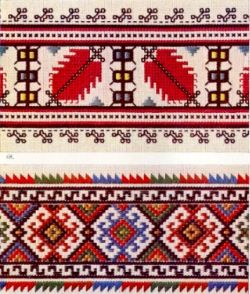 Traditional Bulgarian embroideries.