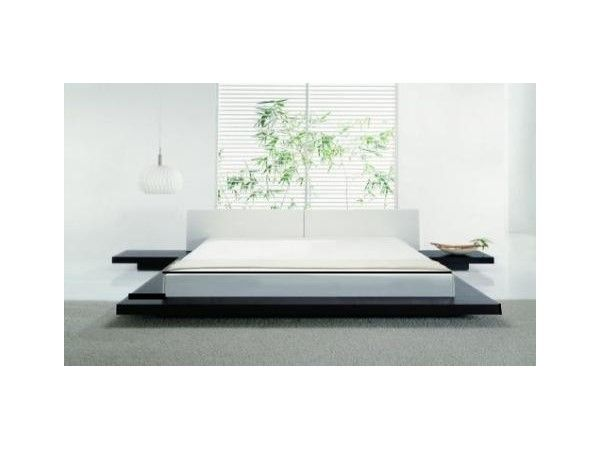 Design 3 - ultra low slung, wooden, high gloss emperor size bed