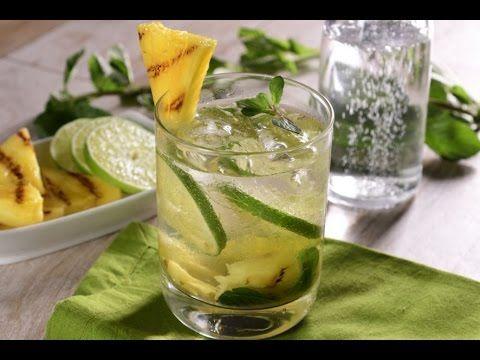 Mojito Virgen con Piña Parrillada y Té Verde
