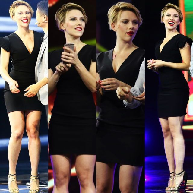 And Scarlett Johansson displayed her star potential once again as she attended the 2016 Tmall 11:11 Global Shopping Festival gala in Shenzhen, South China