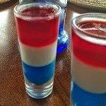 Red, White and Blue Bombers {Jell-O Shots}