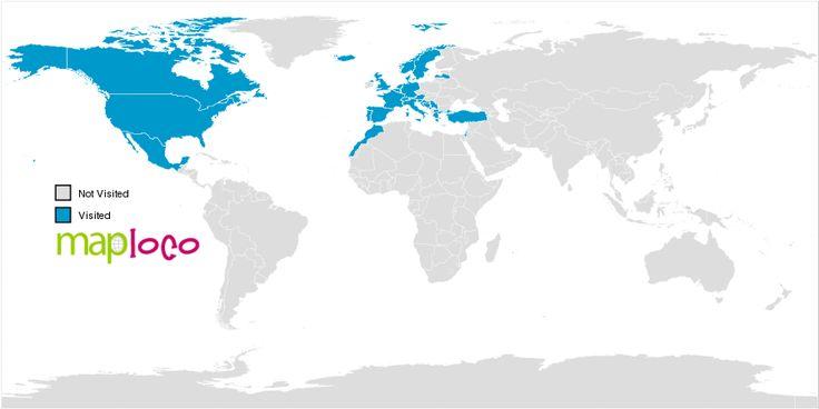Countries I've Been To  Norge, Finland, Danmark, Polen, Tyskland, Belgien, Luxenburg, Holland, Frankrike, Storbritannien, Schweiz, Lichtenstein, Österrike, Tjekien, Ungern, Kroatien, Slovenien, Serbien, Makedonien, Grekland, Bulgarien, Turkiet, Tunisien, Italien, Monaco, SAN Marino, Vatikanstaten, Andorra, Spanien, Portugal, Kambodja, Thailand, Laos, Sri Lanka, Maldiverna, USA