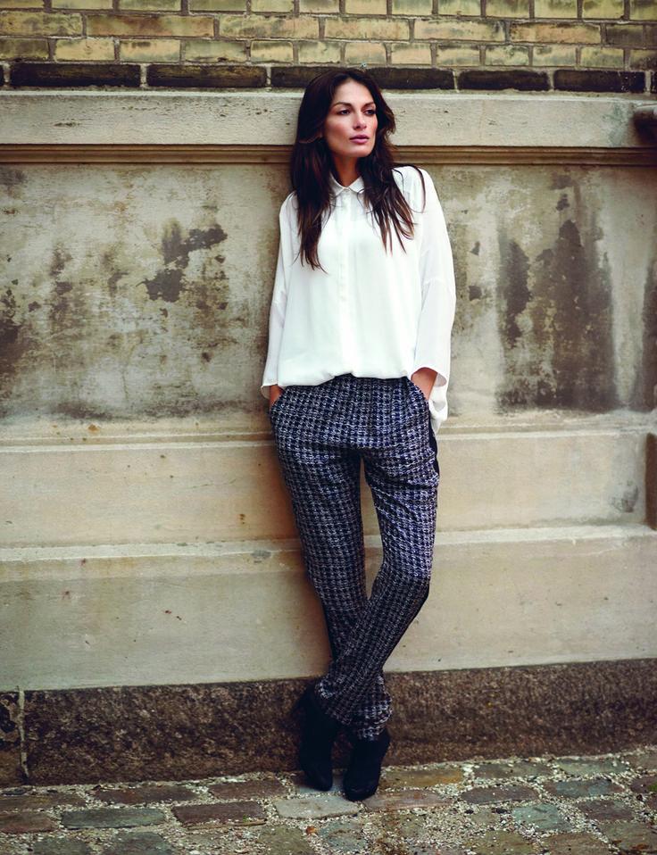 soyaconcept - shirt - blouse - pants - check - black and white