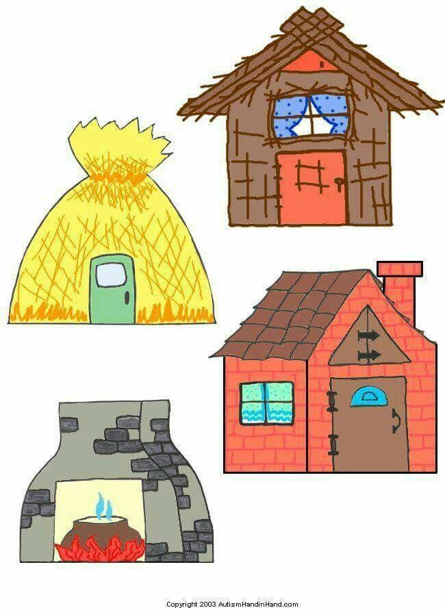 Chimenea y casas