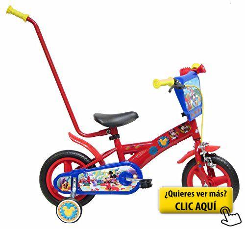Bicicleta Niño Mickey Mouse con Barra de... #bicicleta