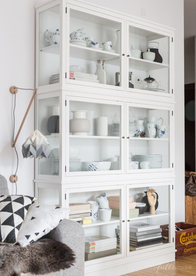 Huge white curio cabinet