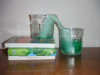 science experiment: walking waterThoughts Water, Homeschool Ideas, Capillaries Action, Science Experiments, Homeschool Science, Kids, Water Science, Pocket Full, Walks Water
