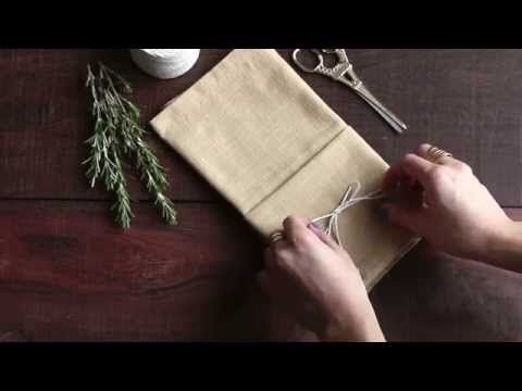 Ways To Fold A Napkin - Rustic Wedding Chic