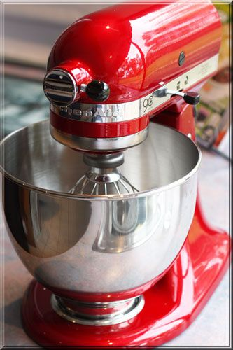 red kitchen aid mixer island and carts colour me happy pretty mixers pinterest