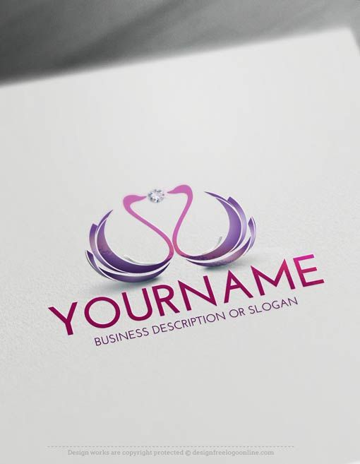 f76737af Create a Logo Free - Swans Logo Template. Customize This logo with our free  logo maker tool