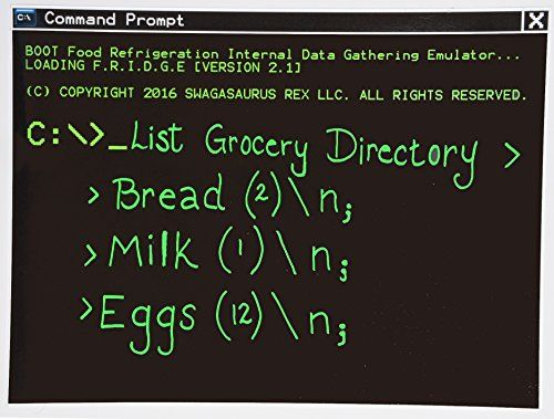 Geeky Command Prompt Magnetic Dry-Erase Whiteboard for Programmers, Coders, Nerds >>> You can get additional details at the image link.