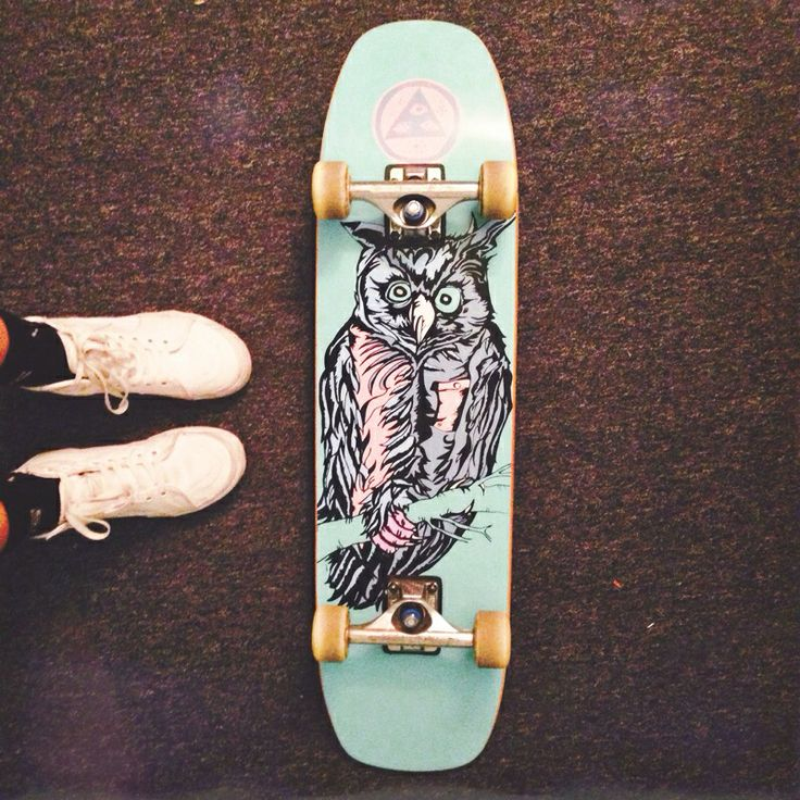 White sk8 hi's and a new board! #vans #welcomeskateboards ...