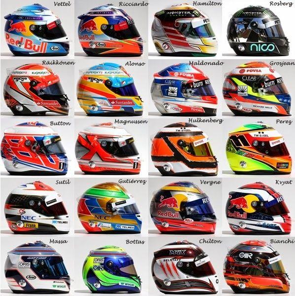 F1 helmet 2014, Massa and Bottas are wrong.