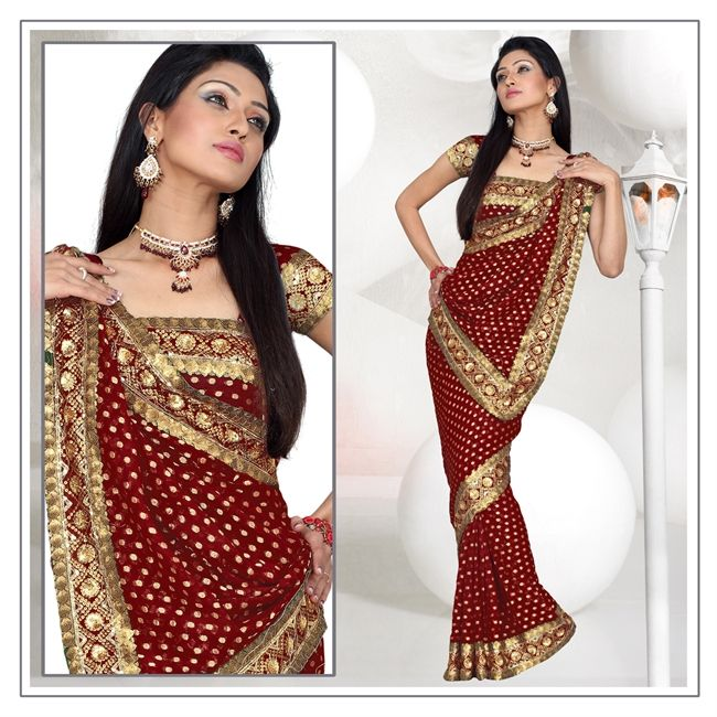 143 Best Saree Drapping Images On Pinterest