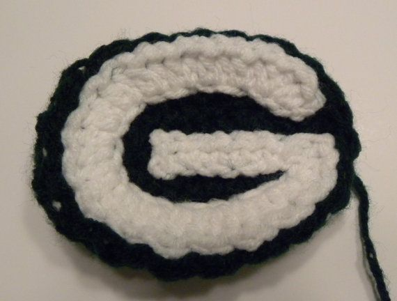 CROCHET PATTERN Green Bay Packers Crochet Applique