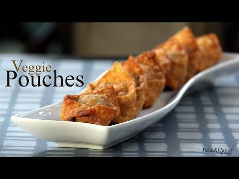 Veg Pouches/Veg Parcels recipe | Quick Indian Snack Vegetable Parcels/Veg Pouches Recipe - Foods And Flavors