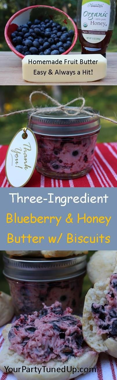BLUEBERRY AND HONEY FRUIT BUTTER.  This CHUNKY fruit butter is so simple yet simply delicious.  Make it for yourself or as a gift for someone else.  It will make anyone happy!