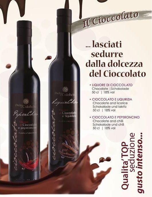 Liquore Crema Cioccolato e Peperoncino Cioccolato Liquirizia 2 bottiglie Pasqua
