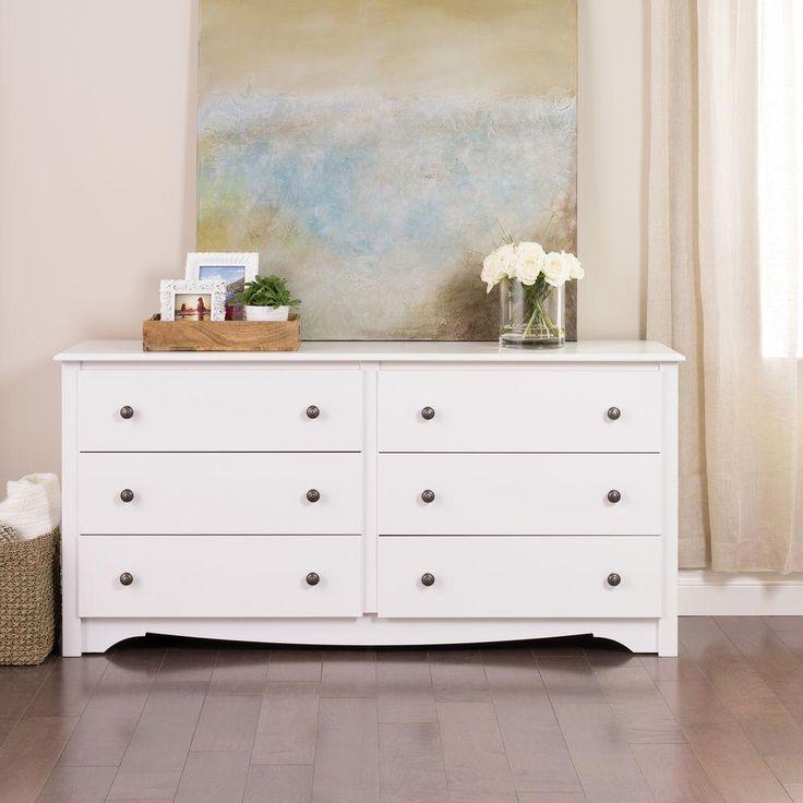Prepac Monterey 6-Drawer Dresser in White-WDC-6330-K - The Home Depot