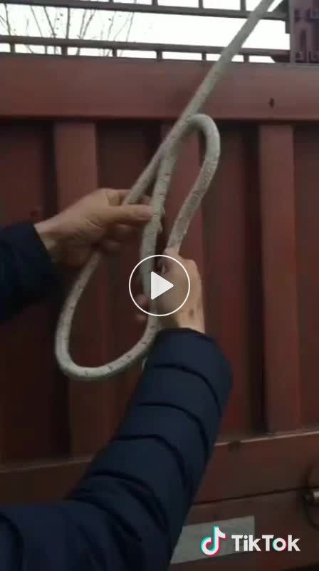 reinforced rope shackle
