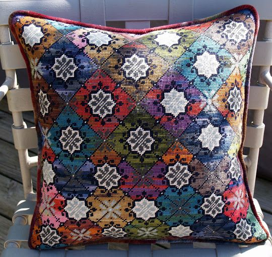 Needlepoint Pillow by Jessica Conroy