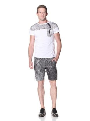 Marc Stone Men's Baru T-Shirt with Asymmetric Pocket