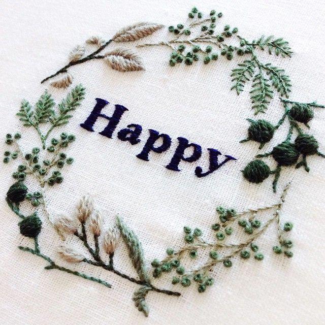 "4,824 Likes, 97 Comments - YUMIKO HIGUCHI (@yumikohiguchi) on Instagram: ""Happy new year ! 良い年でありますように。 #embroidery #刺繍 #2015"""