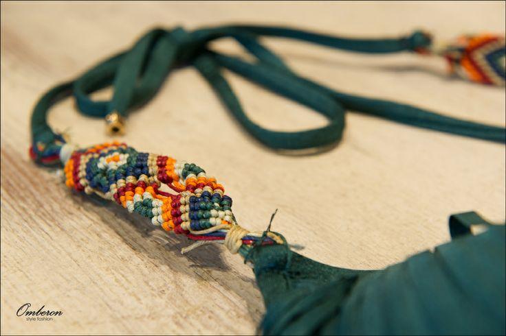 Detail: #Despi βαθύ πράσινο #bikini με κρόσια. #Omberon © Vicky Lafazani