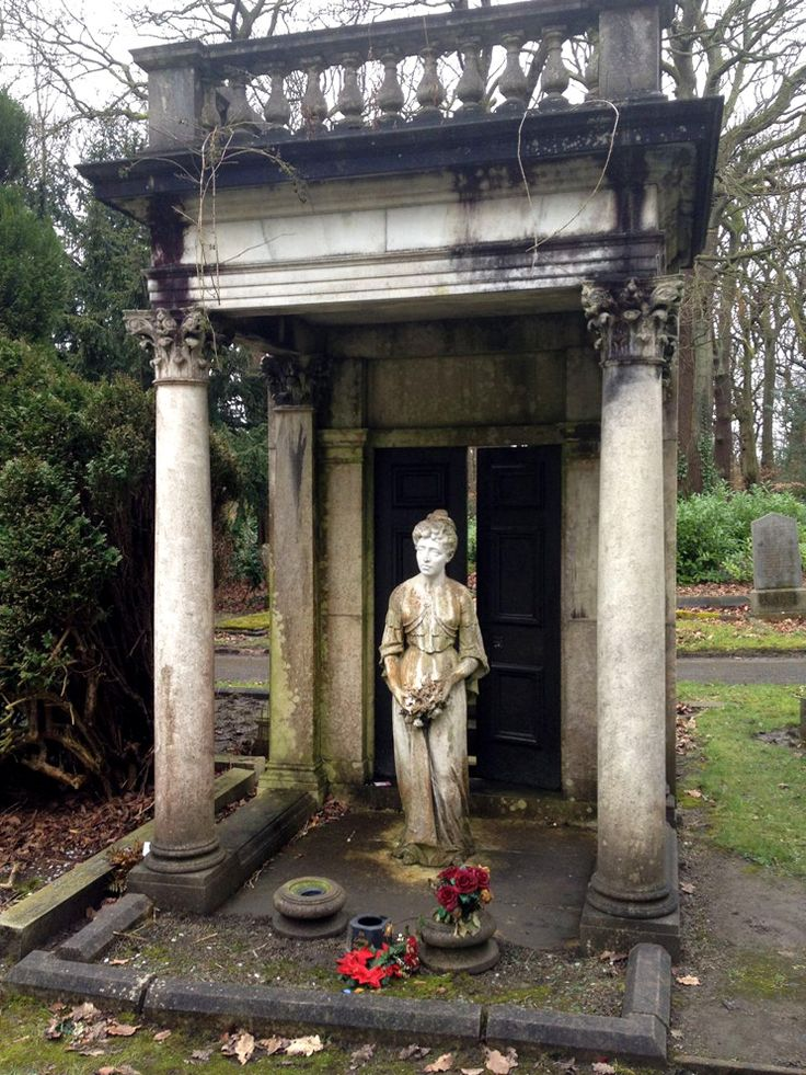 Ethyl - Lawnswood cemetery. The slightly ajar doors are what make it particularly odd and ever so scary.