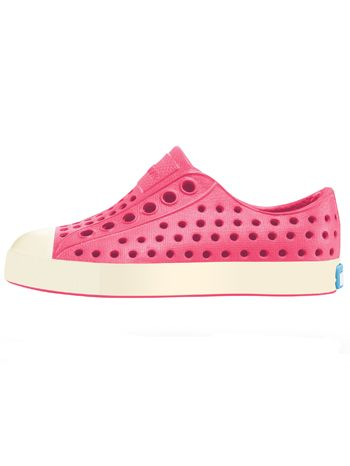 Native Jefferson Hollywood Pink/Bone White Toddler & Kids sizes available at www.tinysoles.com! #TinySoles