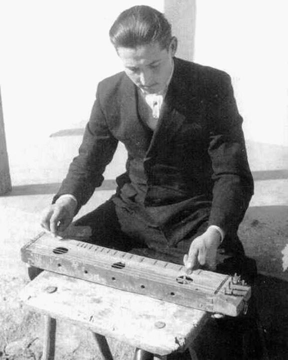 Zither player 1949 Hungary