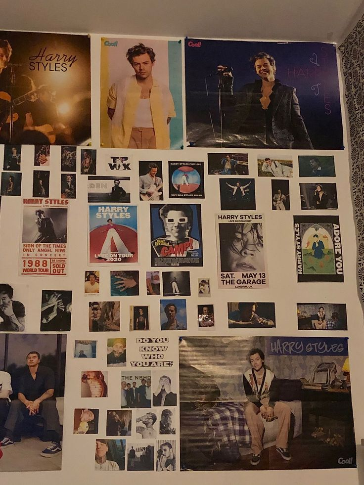 Room Ideas Bedroom, Bedroom Decor, One Direction Room, Cozy Home Decorating, Harry Styles Funny, Indie Room, Room Goals, Room Posters, Aesthetic Bedroom