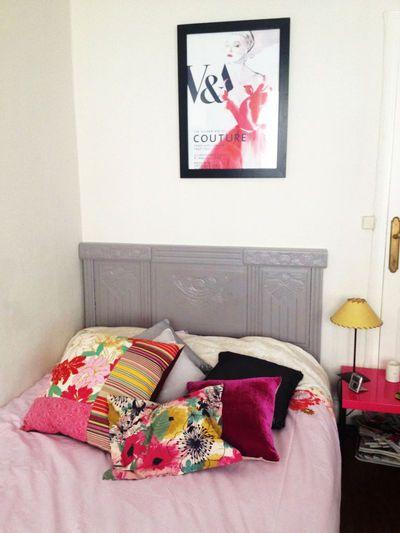 une t te de lit faire soi m me pour une chambre d co art d co art et bureaux. Black Bedroom Furniture Sets. Home Design Ideas