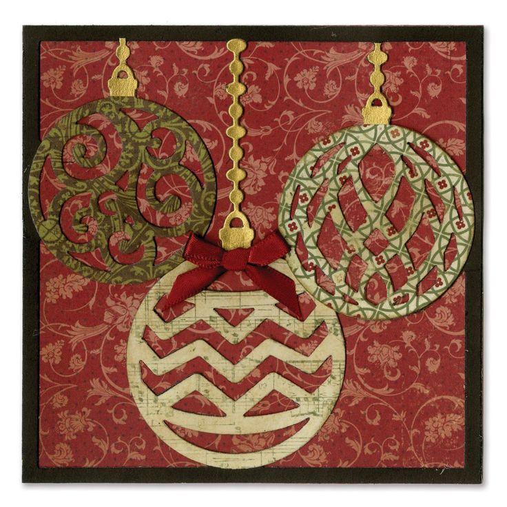 "Sizzix Thinlits Dies 5/Pkg-Ornament Card Front For 5""X5"": Amazon.it: Casa e cucina"