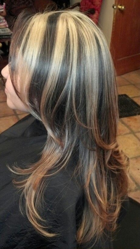 Blonde chunks w/ombre