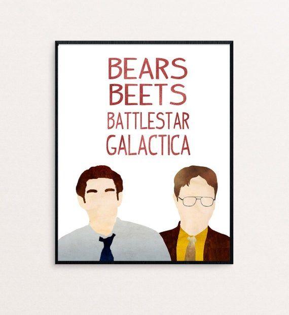 The Office Dwight Schrute And Jim Halpert Bears Beets