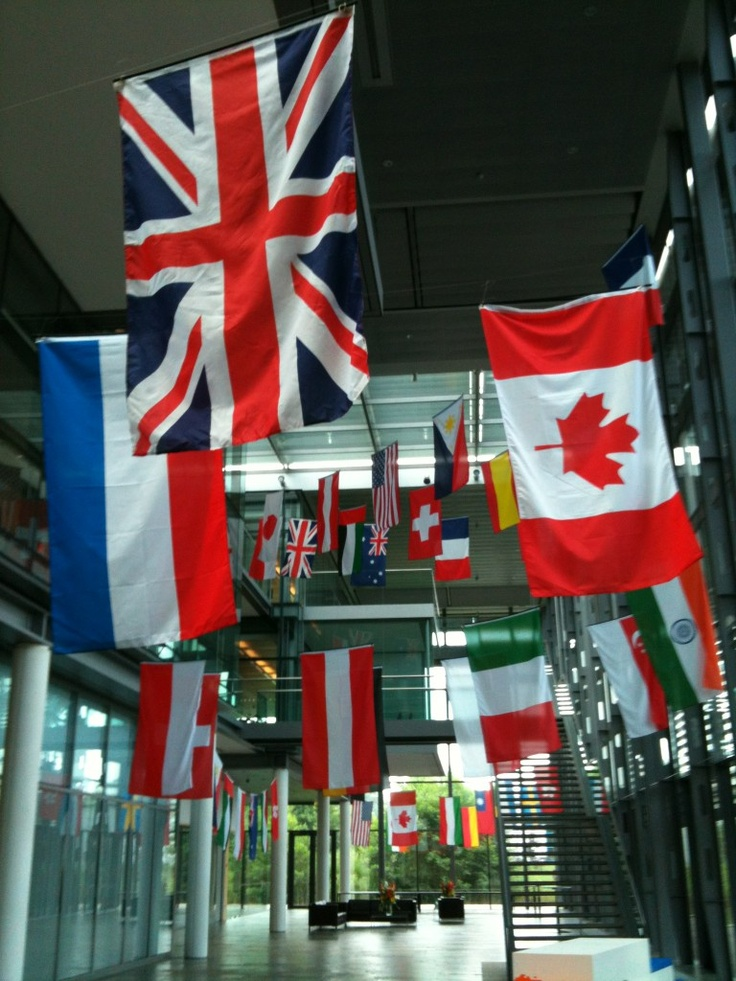The London Olympics are about to begin - so we've decked out the Sophos offices in flags from around the world.  Can you identify them all?