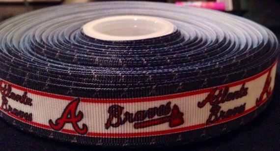 "Atlanta Braves Baseball Ribbon 7/8"" on Etsy, $1.00"