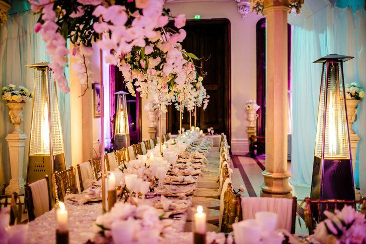 Chateau Challain Magic..Flowers By  Jean Marie Voignier White orchids & blush roses   Design Chateau Challain   Photos By Flavio Bandiera