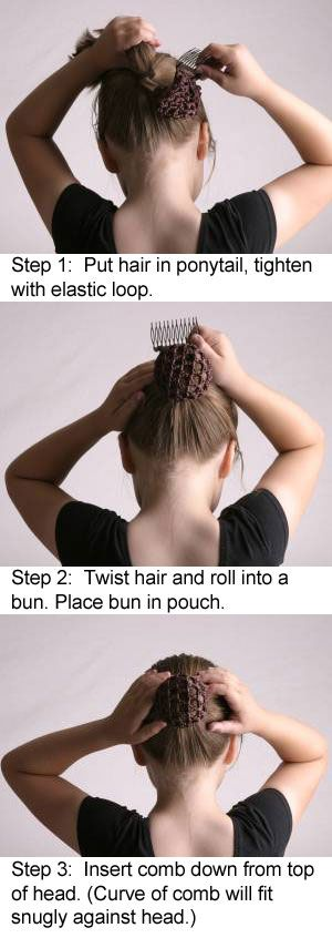 how to make a hair bun for ballet