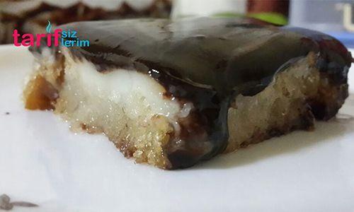Çikolata Soslu Muhallebili Ekmek Tatlısı