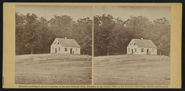 Dunker Church after the battle of Antietam. Photographed by Alexander Gardner circa Sept 1862. #antietam