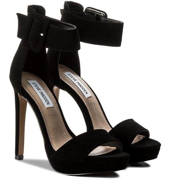 Sandals STEVE MADDEN Coco Sandal 91000561-0S0-07004-01001 Black (€65) ❤ liked on Polyvore featuring shoes, sandals, kohl shoes, black sandals, steve madden footwear, black shoes and steve madden sandals