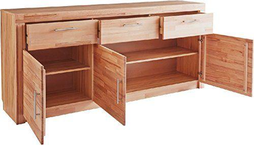 3-3-5-470: made in BRD - Sideboard - Anrichte, in kernbuche teil-massiv, geölt
