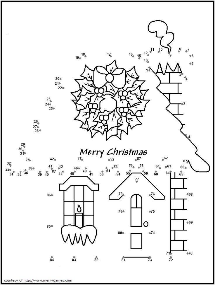 FREE Printable Christmas Connect-the-Dots - Merry Games
